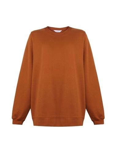 Deux Beautés Ines Oversize Sweatshirt - Cinnamon Diamond  Kahve